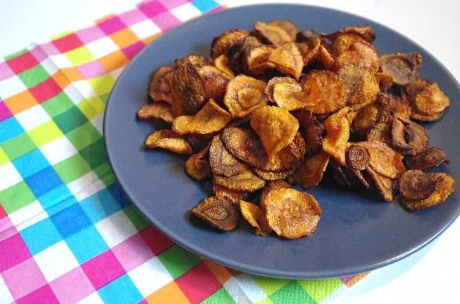 Chips de carottes