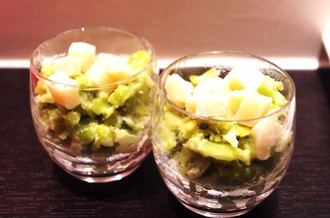 Petites purées de fèves