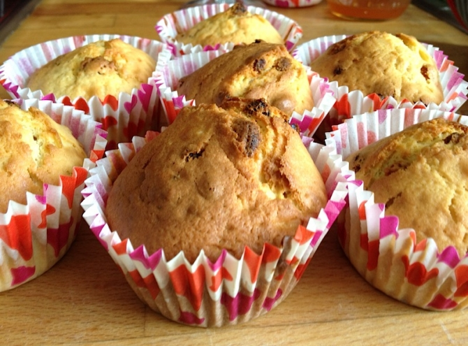Muffins flocons d'avoine et ba