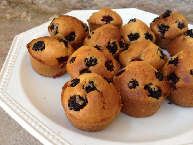 Mini-cakes aux mûres