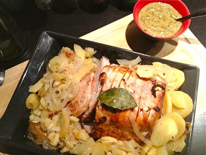 Roti de porc boulangère