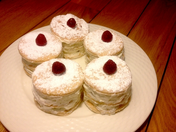 Millefeuilles framboise