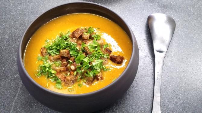 Soupe butternut lentilles
