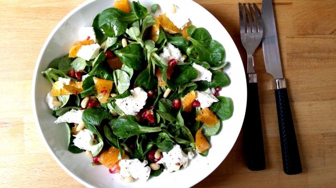 Salade de mache composée