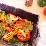 Légumes d'été grillés au four, thym et citron