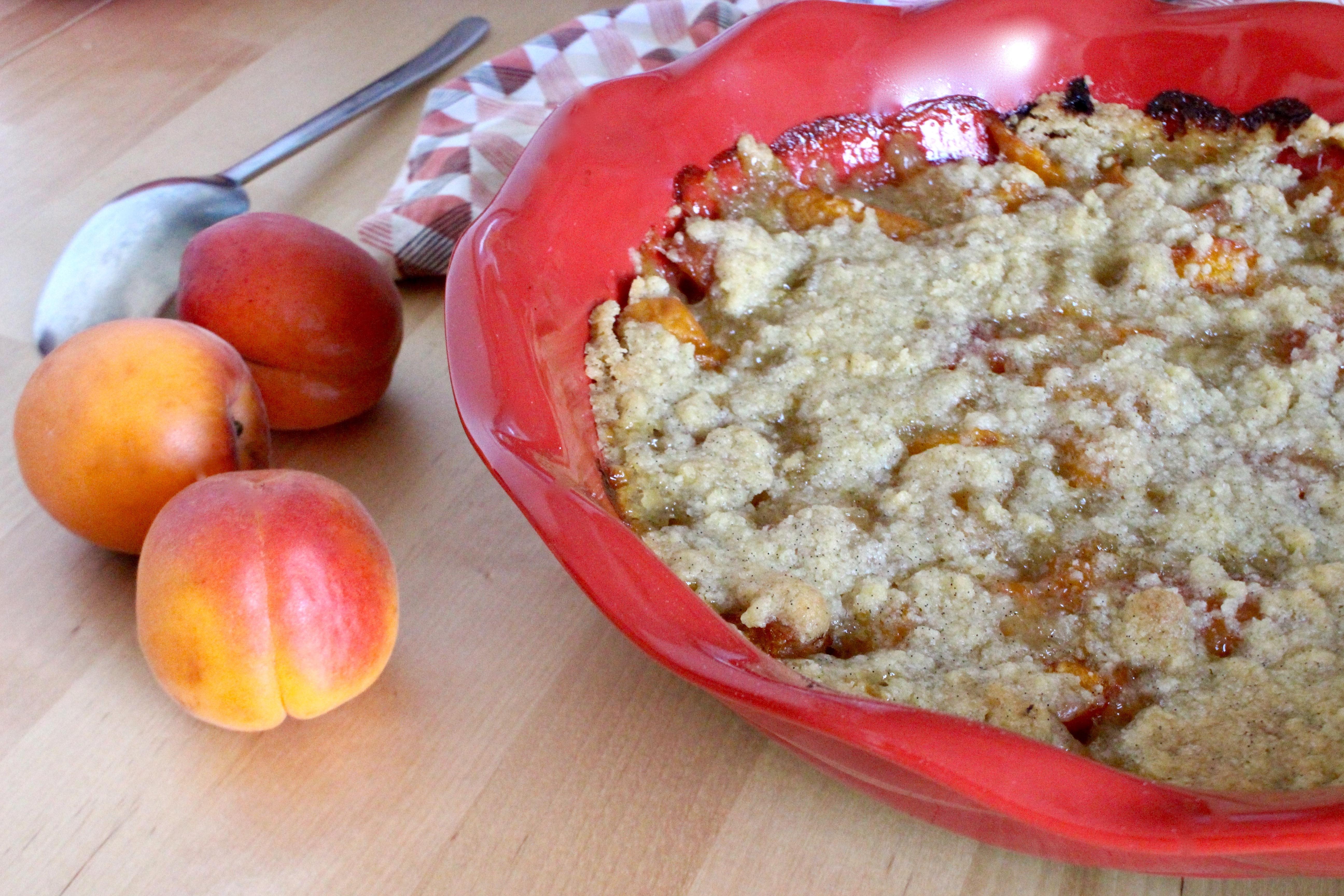 crumble aux abricots frais