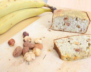 gateau healthy banane, sans sucre et sans farine