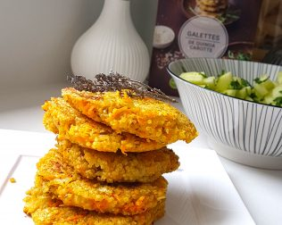 galettes quinoa carotte
